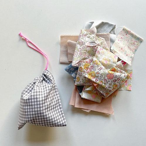 ミニ巾着×ハギレセット M