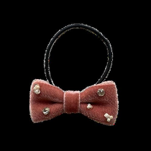 ビーズ刺繍ヘアゴム 3:ピンク