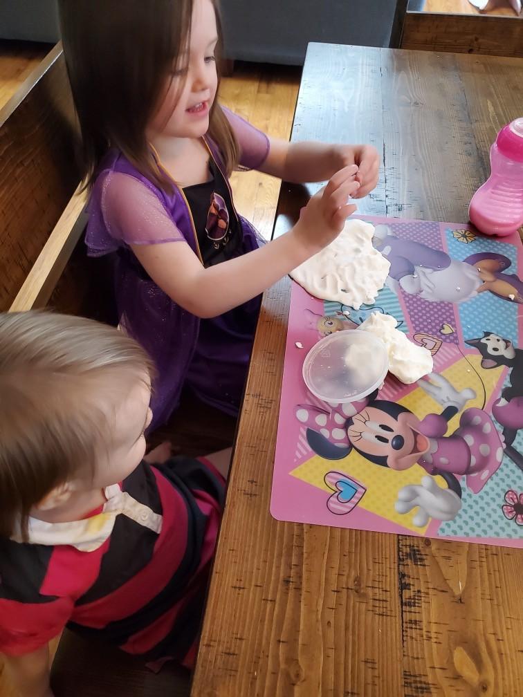 homemade playdough with kids