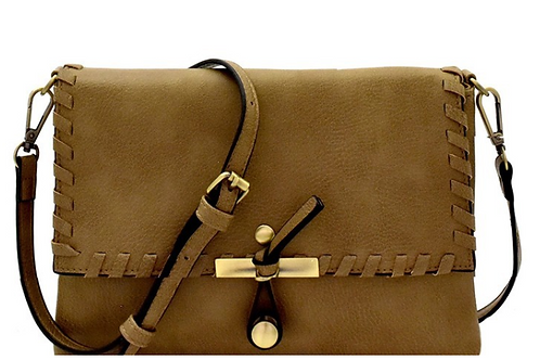 Olive Flap Cross Body Bag