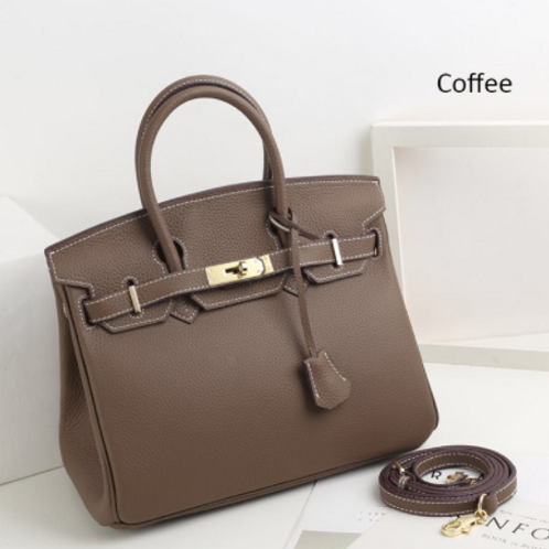 FlavHer Leather Tote Bag- 30cm