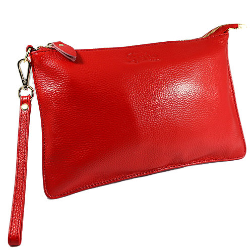 Flavher Leather  Clutch Bag