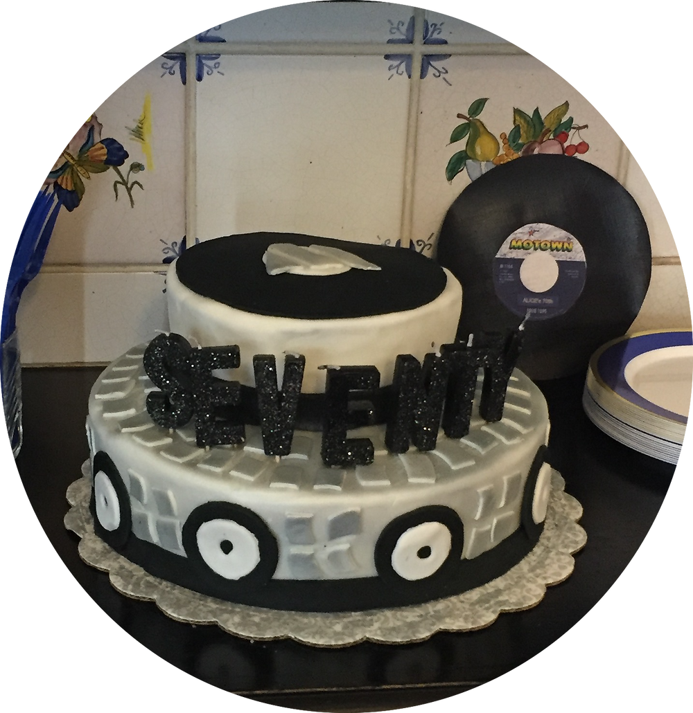 Motown cake designed and baked by granddaughter Emma