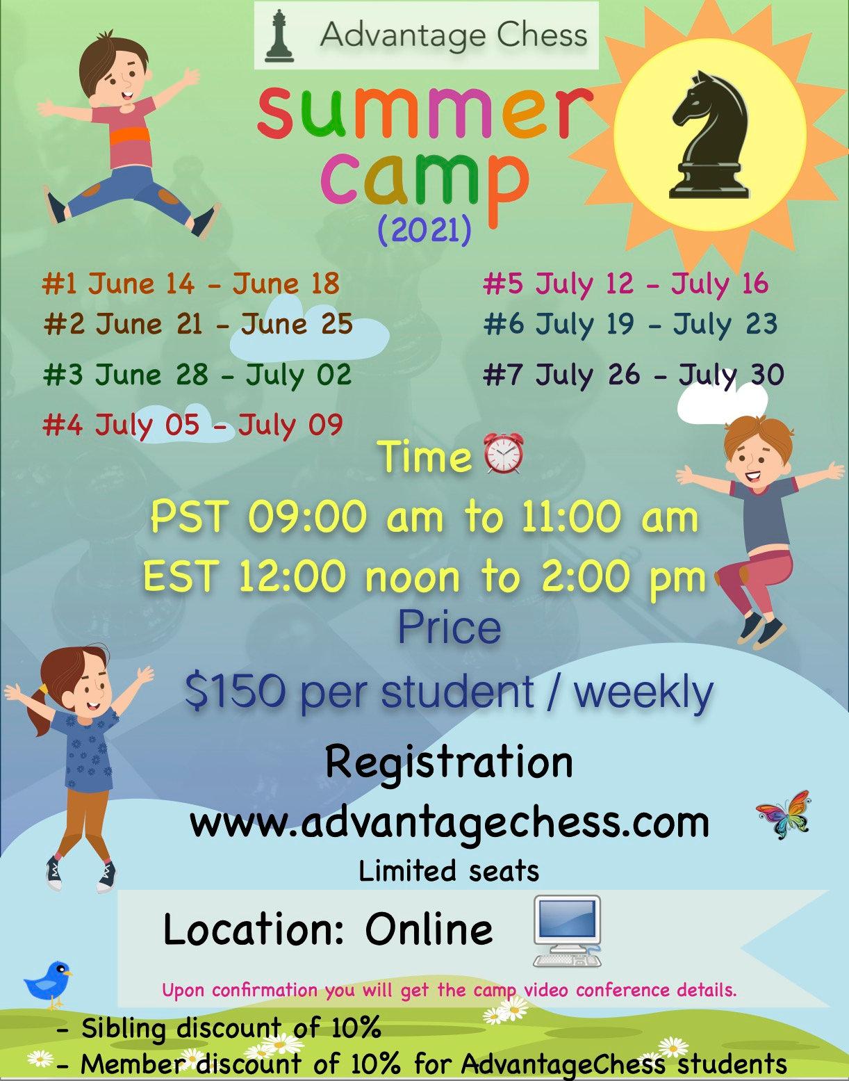 Chess Summer Camp - 2021  (Week 1)