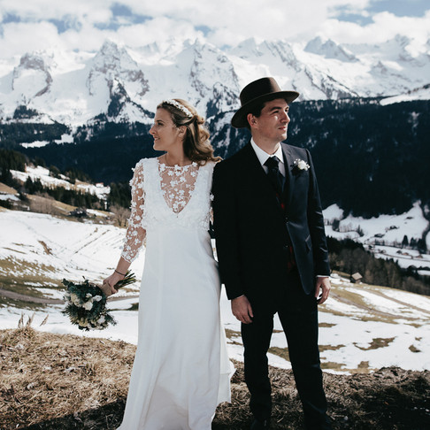 Un reportage photo mariage à la montagne aux Grand-Bornand