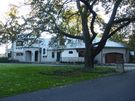 Stone and Stucco Home on Crystal Lake