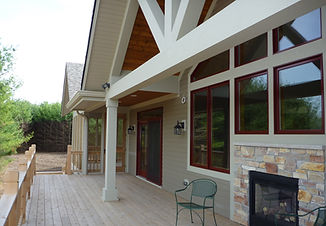custom built porch in one o our homes