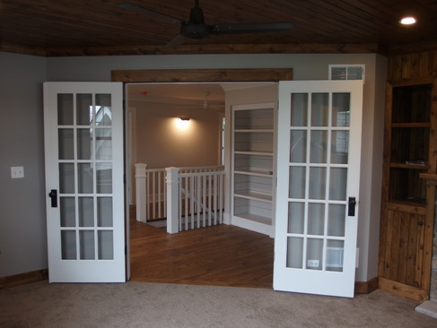 Upper Hallway with French Doors