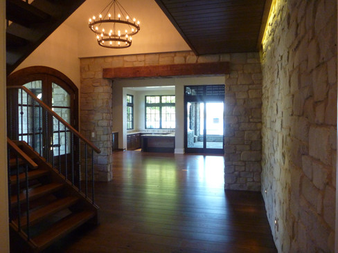 Interior Stone and Reclaimed Beams