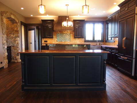 Custom Kitchen with Exceed Floor and Home