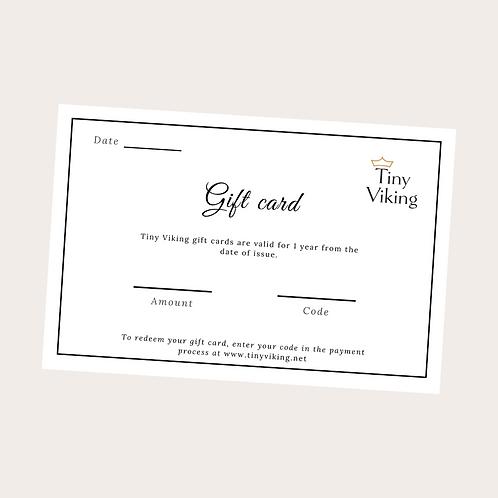 Gift Card (3.000 kr. - 20.000 kr.)
