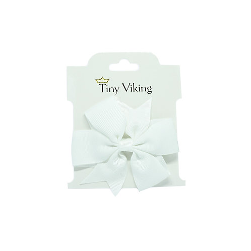 Hair Bow - WHITE ORCHID
