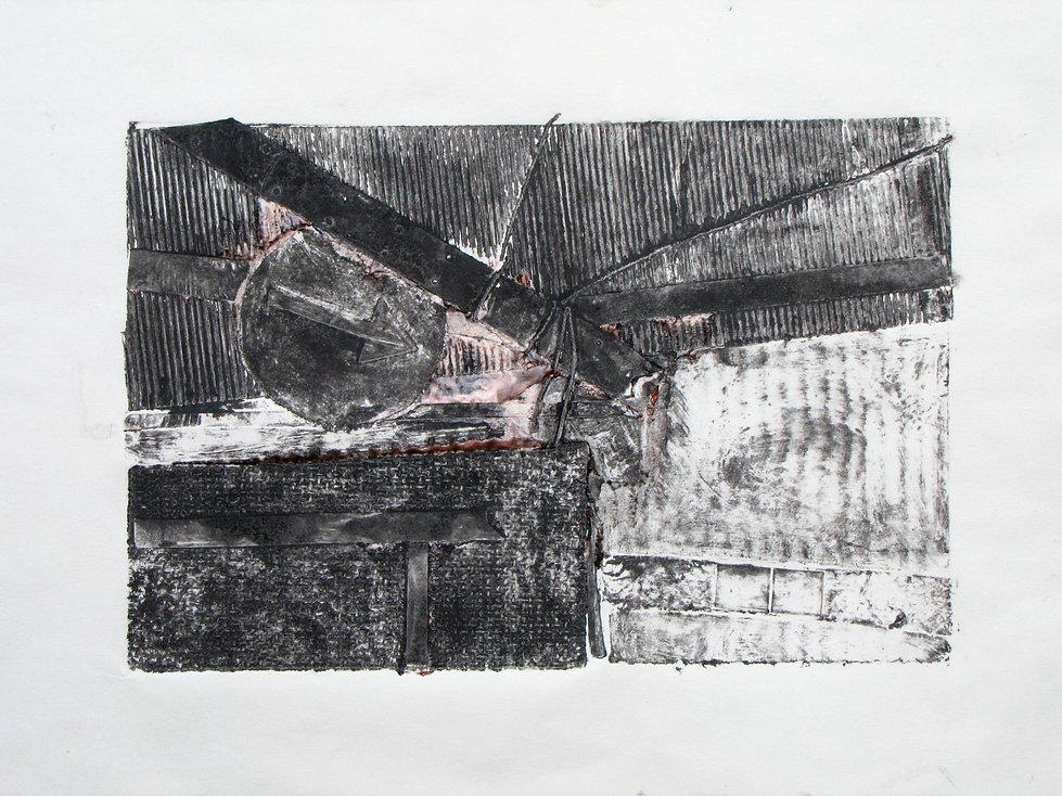 DIRECTIONAL LANDSCAPE, 42 x 29.7 cm, collagraph print,2011