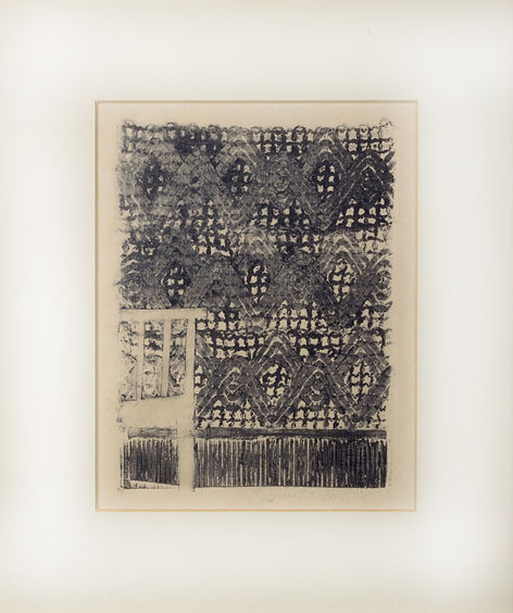 FINANCIAL STATUS series, collagraph print, 2010
