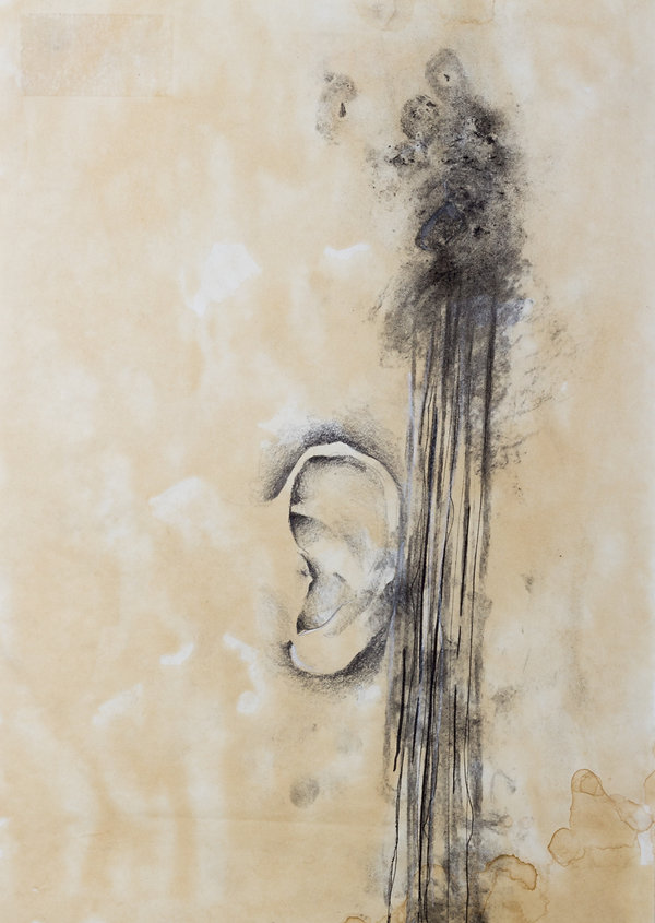 CHAOS vs. ORDER series, 21 x 29.7 cm, coffee wash, pencil, charcoal, ink on paper, 2011