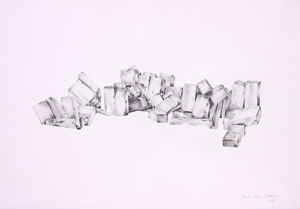 TANGIBLE ABSENCE series, 29.7 x 21 cm, pencil on paper, 2017