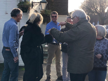 The New Inn in Norton Lindsey invests their winnings in the Fox at Loxley