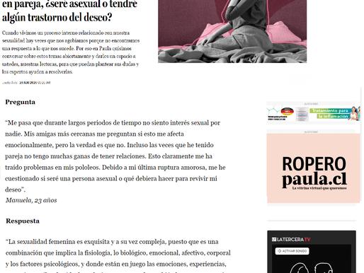 Director Académico de CESI es consultado en sobre sexualidad de Revista Paula