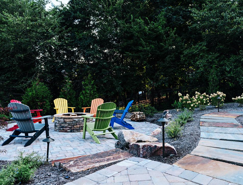 Backyard Fire Pit | Native Design & Hardscape