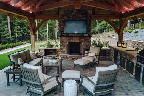 Fireplace and Pavilion | Native Design & Hardscape