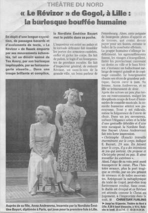 Théâtre du Nord - Le Revizor (Gogol)
