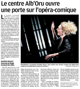 L'Opéra Comique à Bastia avec si j'ose dire