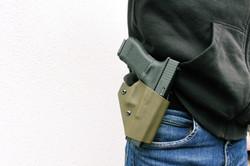 Кобура Молния с пистолетом