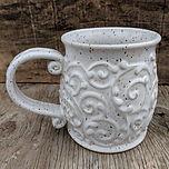 #white #mug_#pottery #potterymug #handma