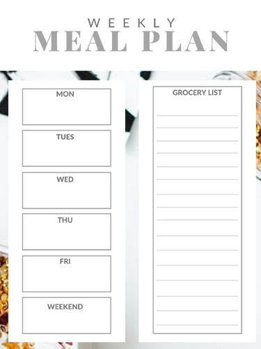 Weekly Meal Plan Template