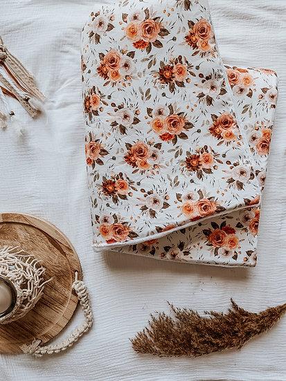Couverture pilou - vintage roses
