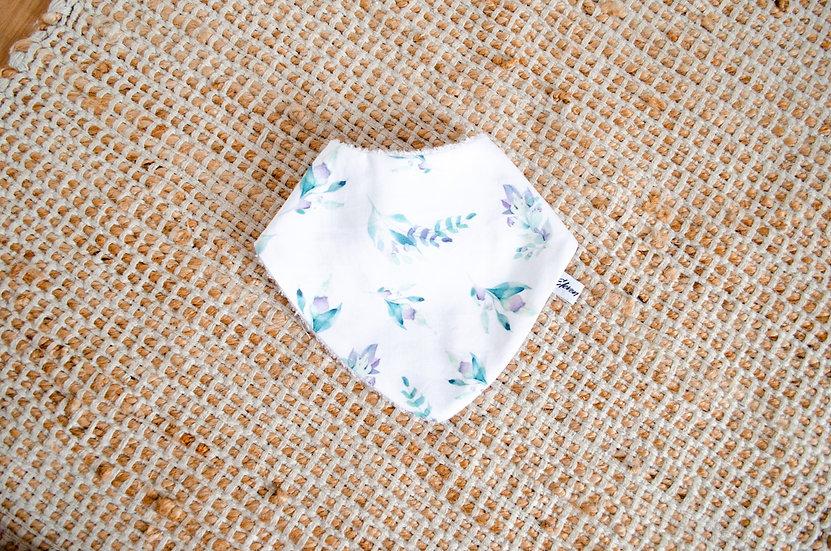 Bavoir - Blue leaves