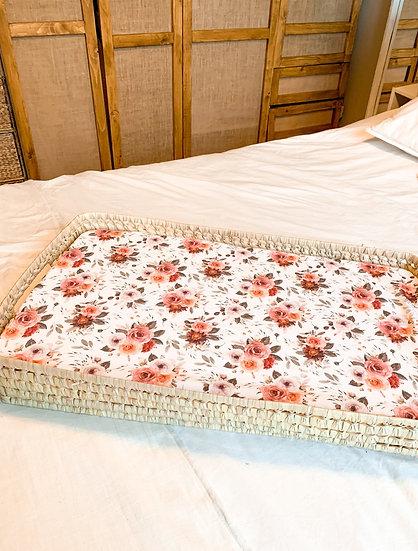 Housse de matelas à langer - Vintage roses