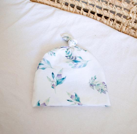 Bonnet - Blue leaves