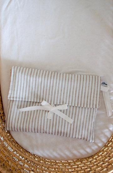 Trousse bébé - Linen stripes