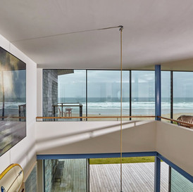 Double Height Living Space and Sea Views