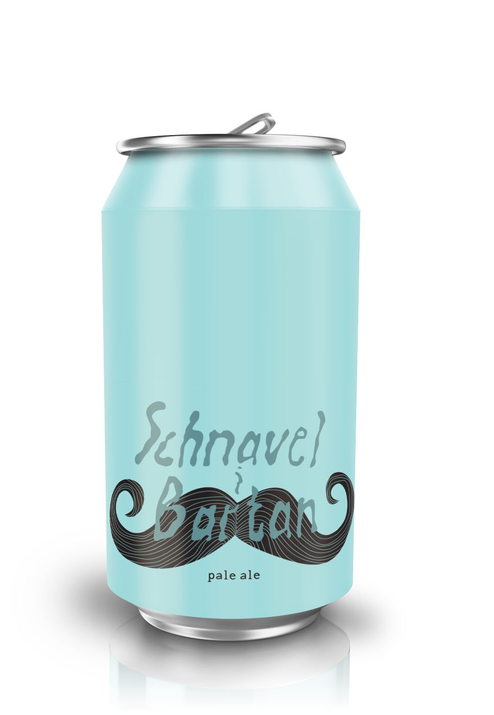 Schnavel i Barten beer can