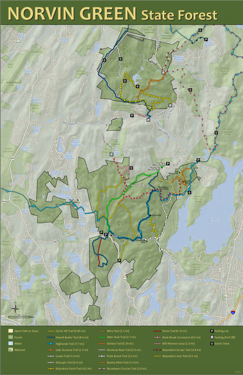 Norvin Green State Forest Map