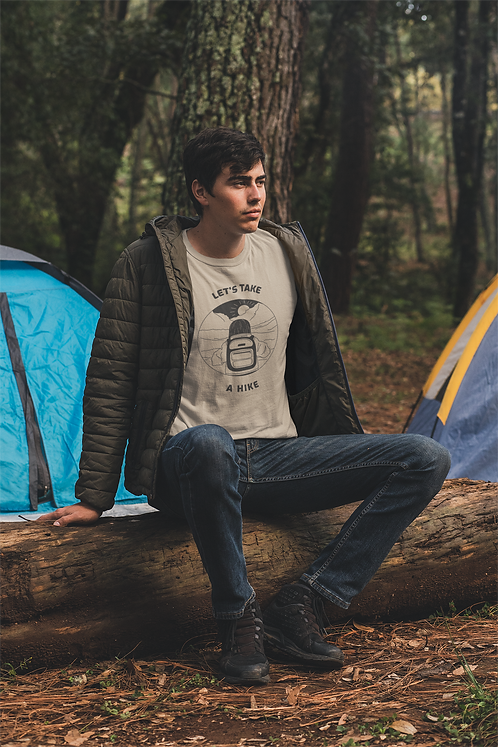 Let's Take A Hike Short-Sleeve Mens T-Shirt