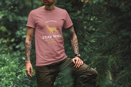 Stay Wild Garden State Short-Sleeve Mens T-Shirt