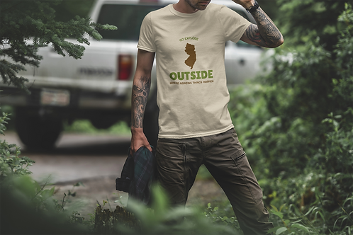 Go Explore Outside New Jersey Short-Sleeve Mens T-Shirt
