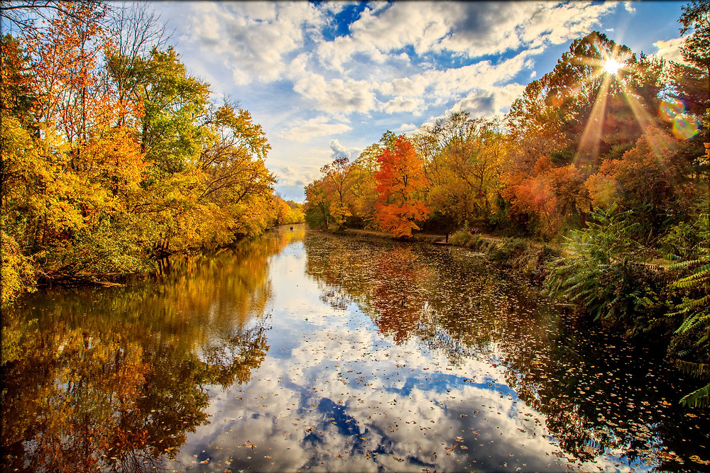Delaware and Raritan Canal State Park In The Fall