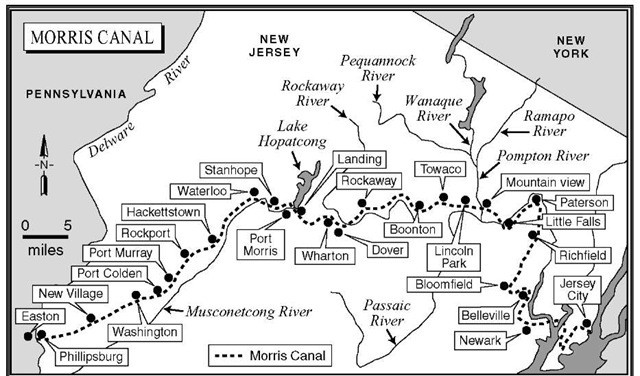 Morris Canal Map - Waterloo Village