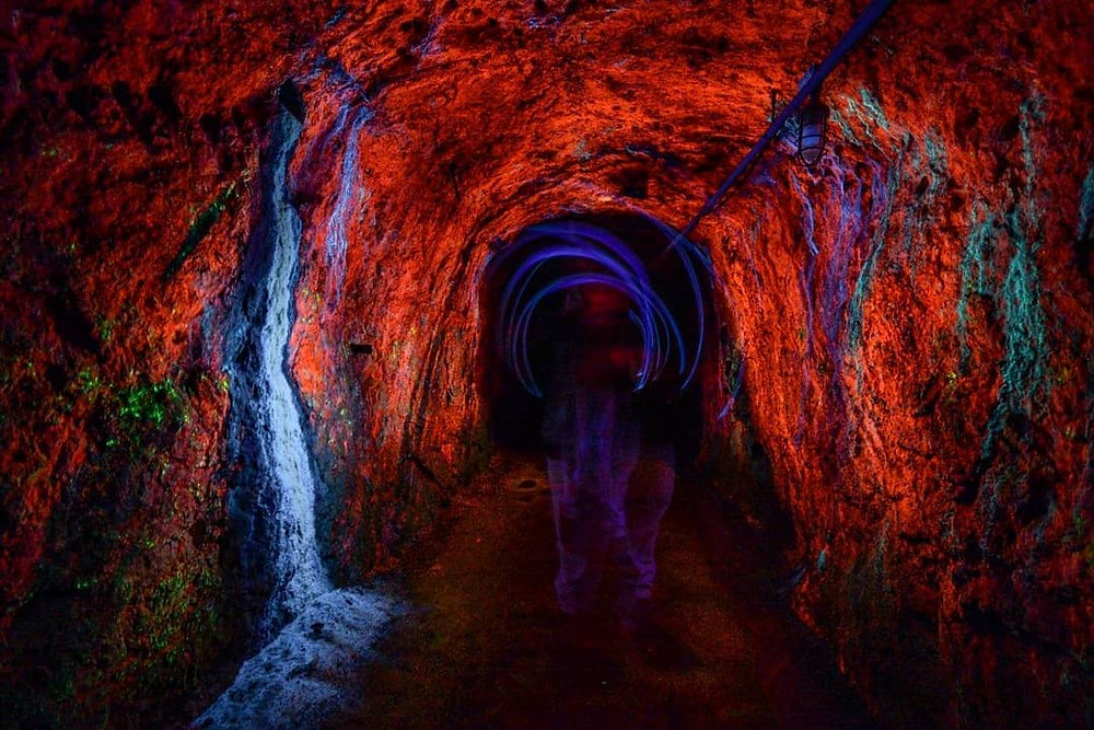 The world renown Rainbow Tunnel at the sterling Mine Museum in Sussex county New Jersey