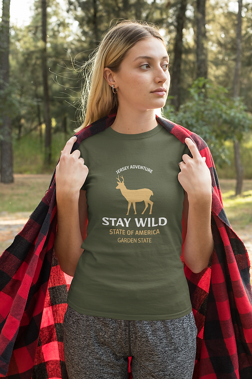 Stay Wild Garden State Short-Sleeve Womens T-Shirt