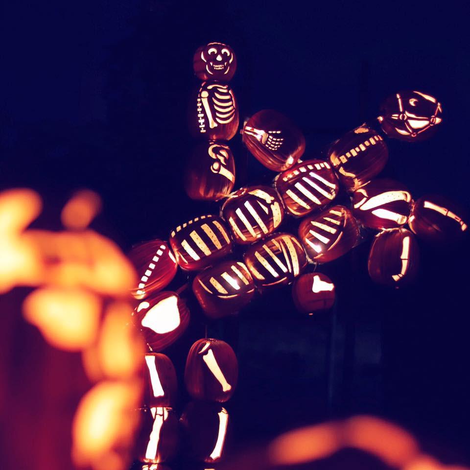 Jack o Lantern Sculptures in Ner Jersey