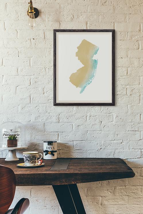 New Jersey - Summer - Jersey Shore Print