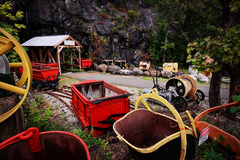 Sterling Mine Museum Parking lot Historic Mining Equipment