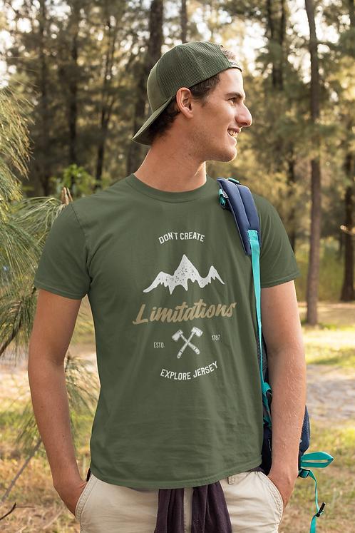 Don't Create Limitations Explore NJ Short-Sleeve Mens T-Shirt