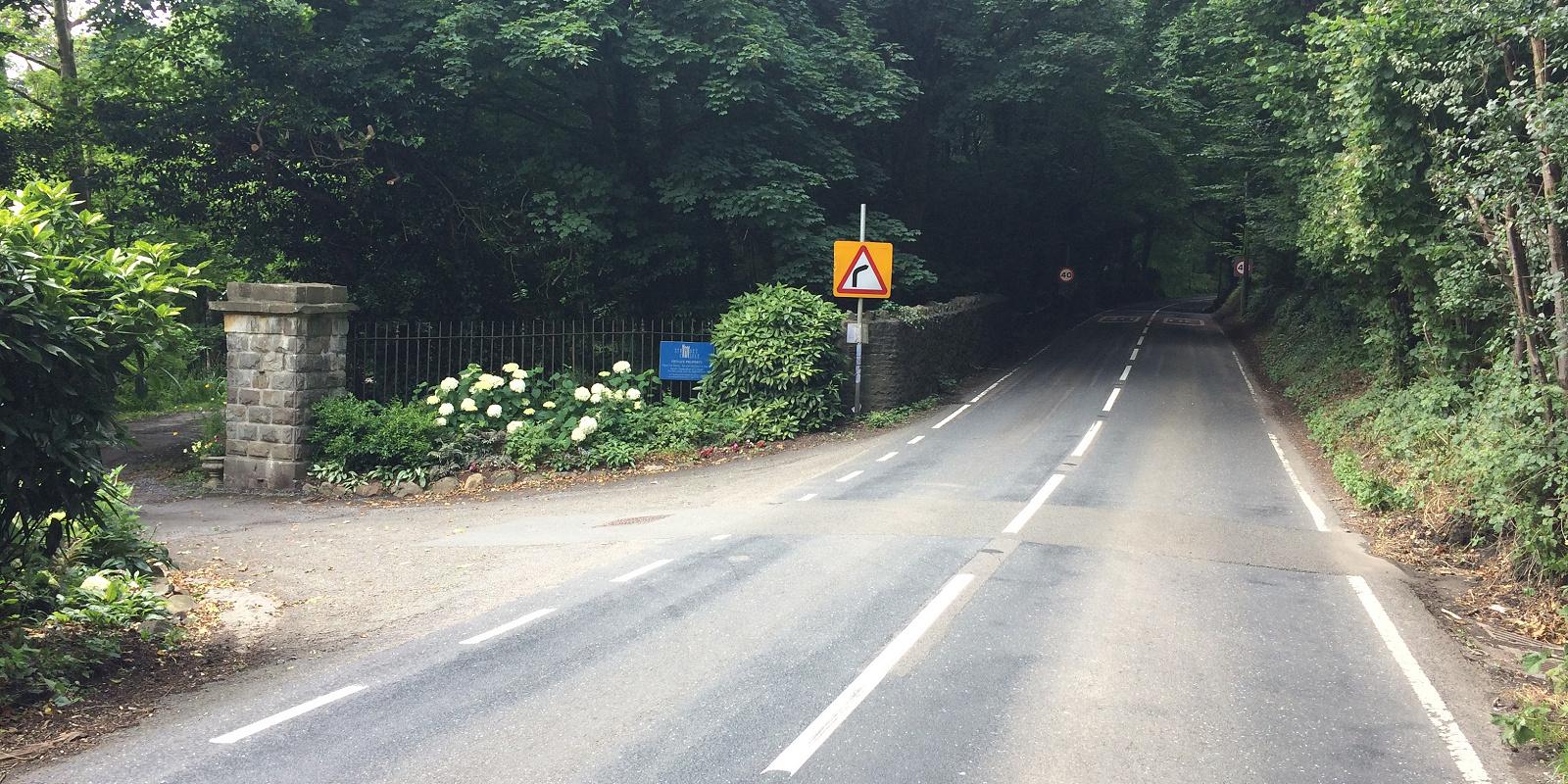 Entrance gate at Stradey Castle