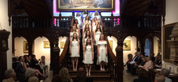 Angelicus Celtis choir on stairs